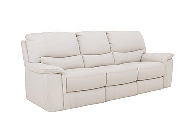 Relax Station Bliss 3 Seater Leather Recliner Sofa in Nc-156e Frost on FV