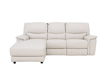Relax Station Bliss Leather Recliner Corner Chaise in Nc-156e Frost on FV
