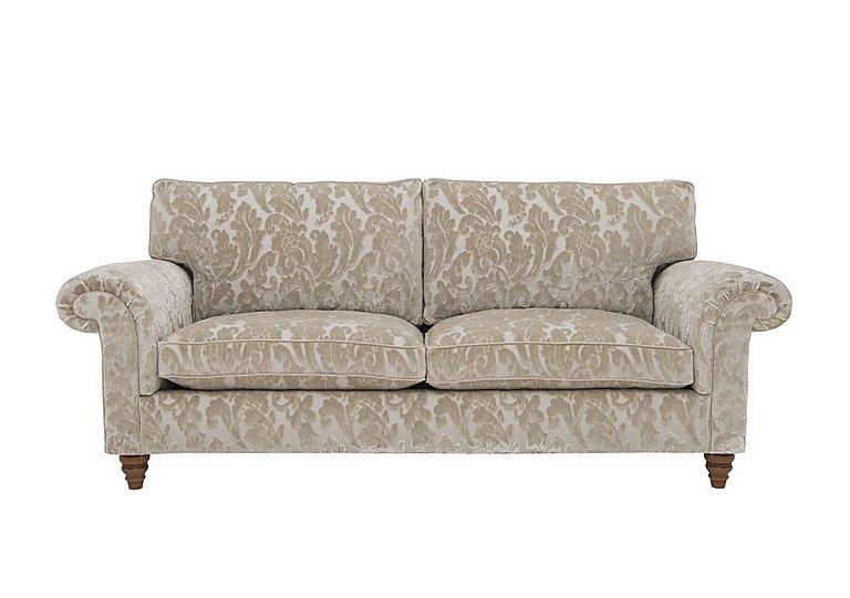 The Prestige Collection Knightsbridge 3 Seater Fabric Sofa in 94965-02 Blessington Sand on Furniture Village