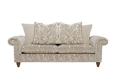 The Prestige Collection Knightsbridge 3 Seater Fabric Pillow Back Sofa in 94965-02 Blessington Sand on FV