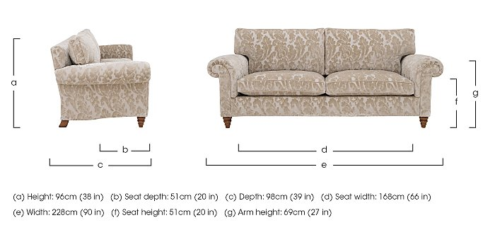 The Prestige Collection Knightsbridge 4 Seater Fabric Sofa in  on Furniture Village
