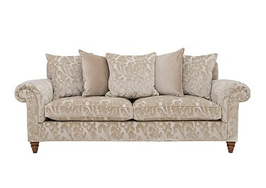 The Prestige Collection Knightsbridge 4 Seater Fabric Pillow Back Sofa in 94965-02 Blessington Sand on FV