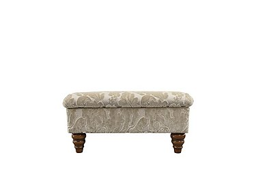 The Prestige Collection Knightsbridge Fabric Storage Footstool in 94965-02 Blessington Sand on FV