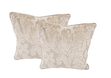 The Prestige Collection Knightsbridge Pair of Scatter Cushions in 94965-02 Blessington Sand on Furniture Village