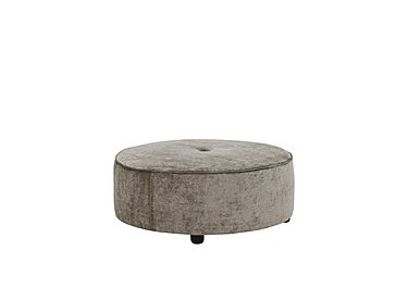 The Prestige Collection Bayswater Fabric Footstool in 92121-12 Pimlico Silver Birch on FV