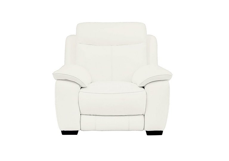 Starlight Express Leather Recliner Armchair in Nc-744d Star White on Furniture Village