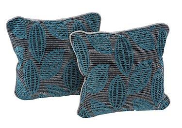 Weekender Pair of Scatter Cushions in Montoro Teal on FV