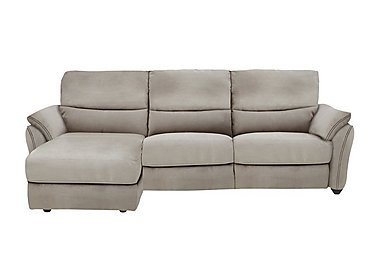 Salamander 3 Seater Fabric Recliner Chaise in Bfa-Blj-R946 Silver Grey on Furniture Village