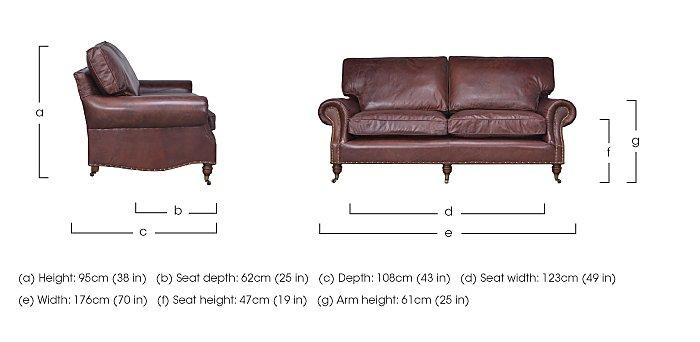 Radford 2 Seater Leather Sofa in  on Furniture Village