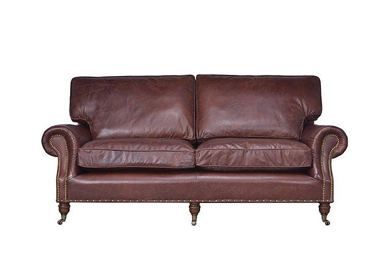 Radford 2 Seater Leather Sofa in Biker Tan An on Furniture Village