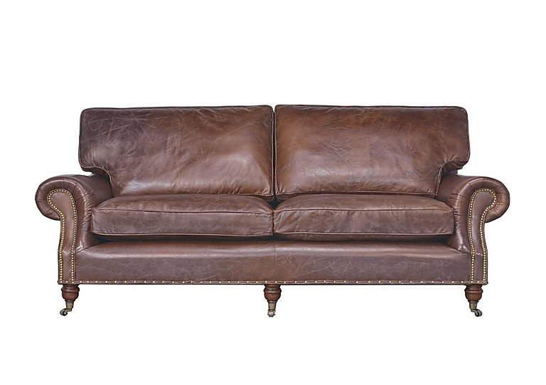 Radford 3 Seater Leather Sofa in Antique Whisky An on Furniture Village