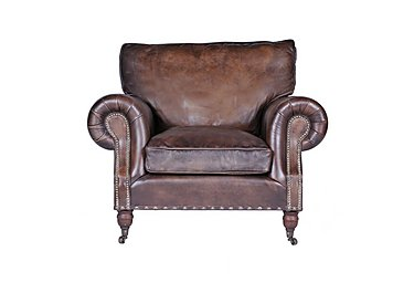 Radford Leather Armchair in Antique Whisky An on Furniture Village