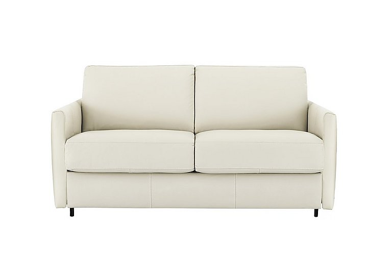 Alcova 2 Seater Leather Sofa Bed with Slim Arms