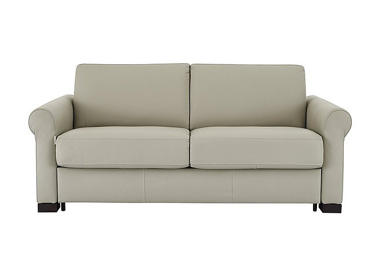 Alcova 2.5 Seater Leather Sofa Bed with Scroll Arms