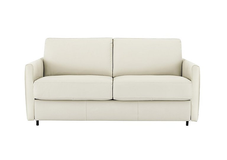 Alcova 2.5 Seater Leather Sofa Bed with Slim Arms