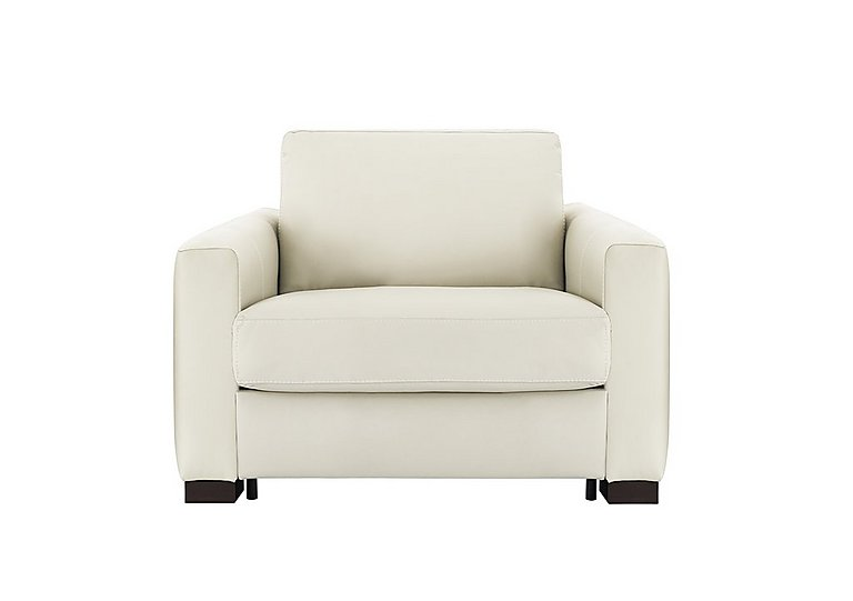 Alcova Leather Sofa Bed Chair with Box Arms