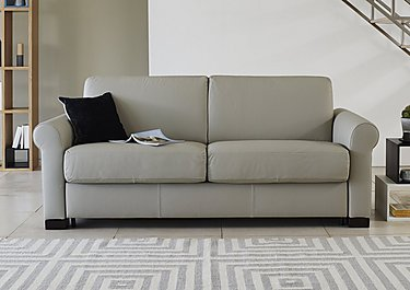 Alcova Leather Sofa Bed Chair with Scroll Arms in  on Furniture Village