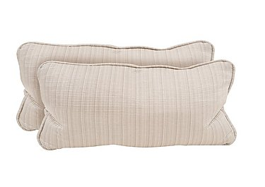 Wellington Pair Of Bolster Cushions in Altan Rib Champagne on Furniture Village