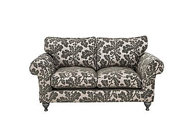 Wellington 2 Seater Fabric Sofa in Altan Floral Steel - Smoke on Furniture Village
