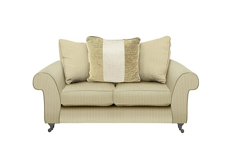 Wellington 2 Seater Pillow Back Fabric Sofa