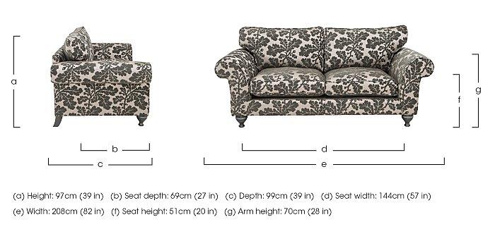 Wellington 3 Seater Fabric Sofa in  on FV