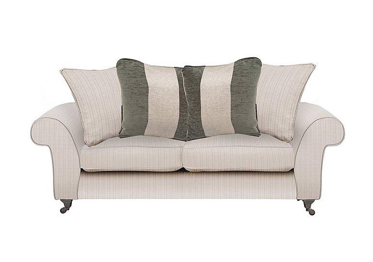 Wellington 3 Seater Pillow Back Fabric Sofa