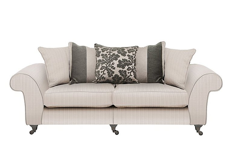 Wellington 4 Seater Split Frame Pillow Back Fabric Sofa