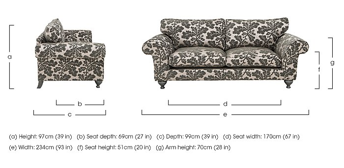 Wellington 4 Seater Fabric Sofa in  on Furniture Village