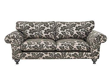 Wellington 4 Seater Fabric Sofa in Altan Floral Steel - Smoke on Furniture Village