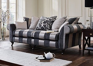 Wellington 4 Seater Pillow Back Fabric Sofa in  on FV
