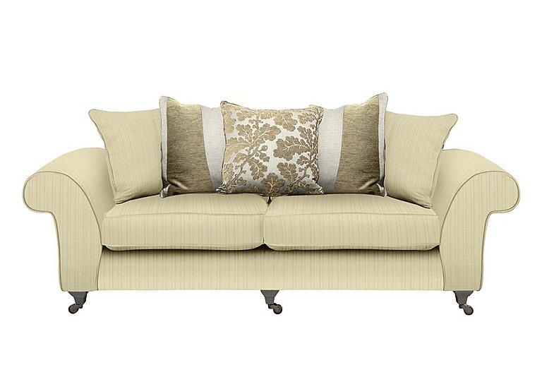 Wellington 4 Seater Pillow Back Fabric Sofa