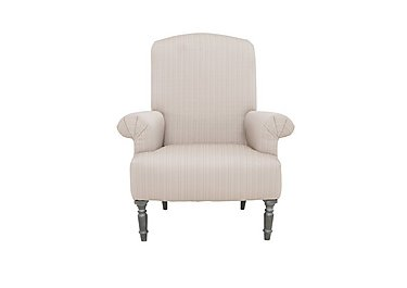 Wellington Fabric Accent Chair in Altan Rib Chamapagne - Smoke on FV