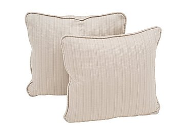 """Wellington Pair of 20"""" Scatter Cushions in Altan Rib Champagne on Furniture Village"""