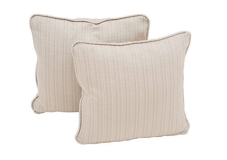 "Wellington 17"" Pair of Scatter Cushions in Altan Rib Champagne on Furniture Village"