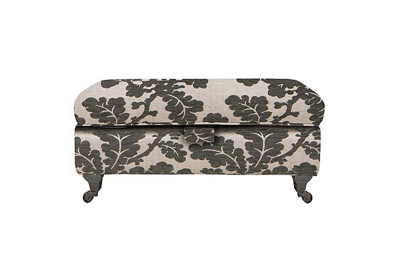 Wellington Large Fabric Storage Stool in Altan Floral Steel - Sm/Nc on Furniture Village