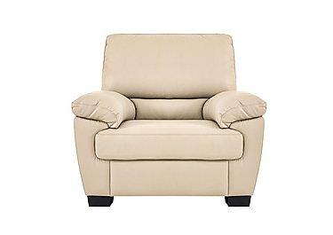 Alvera Leather Recliner Armchair - Only One Left! in Denver 10bf Sg Rose Beige on FV