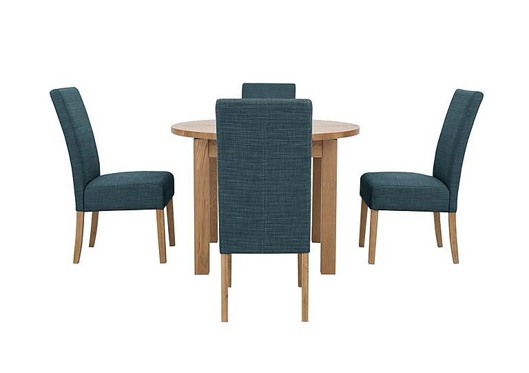 Edmonton Oak Extending Round Dining Table 4 Ivory Lola  : PRODZFRSP000000000019527californiaextending round dining table and 4 fabric dining chairsceladonlarge from goodshousehold.uk size 768 x 541 jpeg 18kB