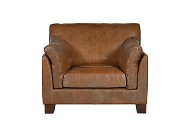 Hillcroft Leather Armchair in Naphina Camel Wo on Furniture Village