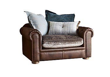 New Romance Giselle Leather Pillow Back Snuggler Armchair in Cal Original Option 1 on FV