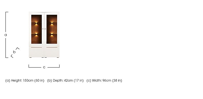Junctions Low Double Display Unit - Including Lights in  on Furniture Village
