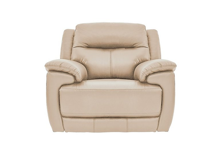 Touch Leather Manual Recliner Armchair - Only Three Left! in Bv-039c Pebble on Furniture Village