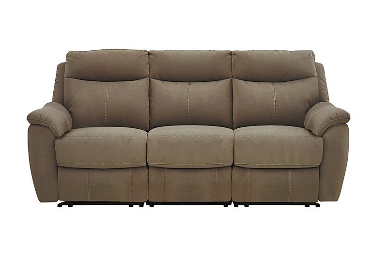 Snug 3 Seater Fabric Power Recliner Sofa - Only One Left!