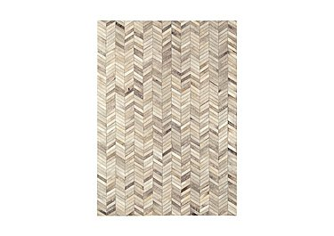 Dakota Leather/Cowhide Rug Medium in Chevron on FV