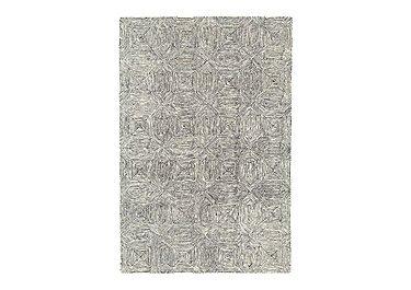 Varrick Wool Rug Large in Black And White on Furniture Village