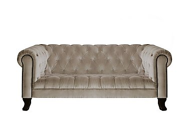 New England Hampton 3 Seater Fabric Sofa in Venetian Sable Dk on FV