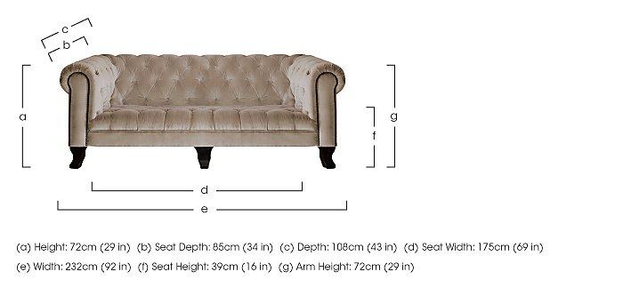 New England Hampton 4 Seater Fabric Sofa in  on Furniture Village
