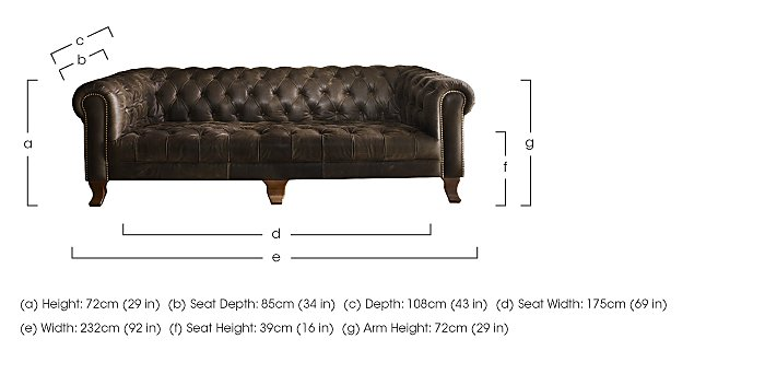 New England Hampton 4 Seater Leather Sofa in  on Furniture Village