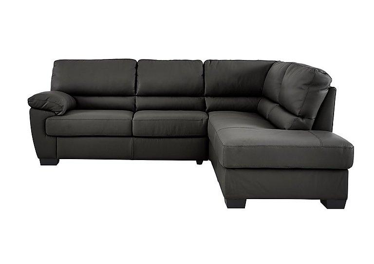 Alvera Leather Corner Sofa - Only One Left!