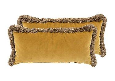New England Nantucket Pair of Fabric Bolster Cushions in Venetian Ochre on Furniture Village
