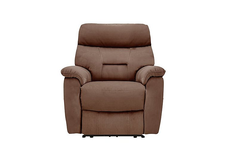 Fontana Fabric Recliner Armchair in Bfa-Blj-R05 Hazelnut on Furniture Village